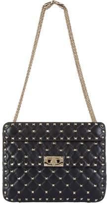 Valentino Medium Crinkled Leather Rockstud Spike Shoulder Bag