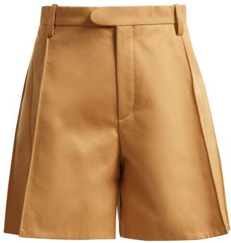 Chloé High-waisted cotton shorts