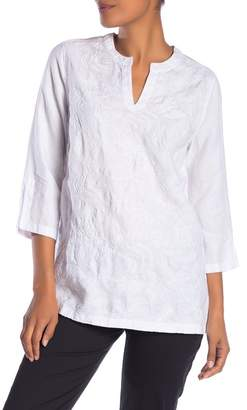 Tommy Bahama Monstera Embroidered Linen Tunic