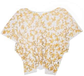 Julien David sheer embroidered T-shirt