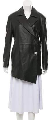Drome Long Sleeve Leather Coat
