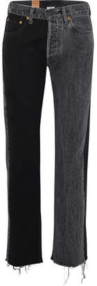 Vetements Levi's Mid-rise Straight-leg Jeans - Black