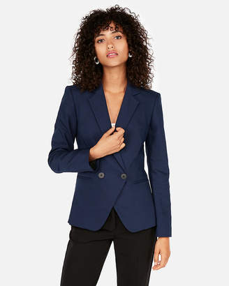 Express Fitted Double Breasted Blazer