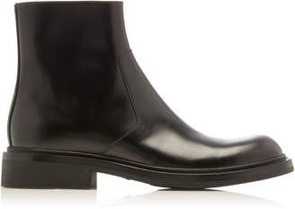 Prada Leather Chelsea Boots Size: 8