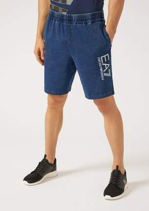 Emporio Armani Ea7 Washed Cotton Bermuda Shorts