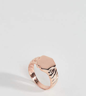 Asos Rose Gold Plated Sterling Silver Sovereign Ring