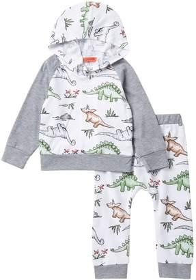 Funkyberry Dino Hoodie Set (Baby Girls)