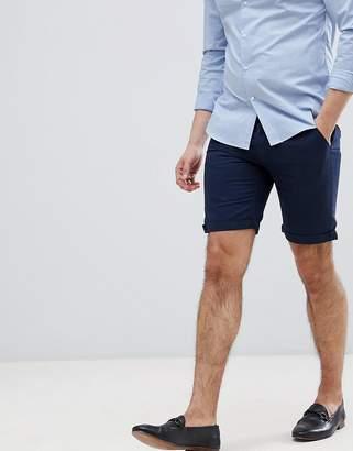 Bellfield Slim Fit Chino Shorts In Navy