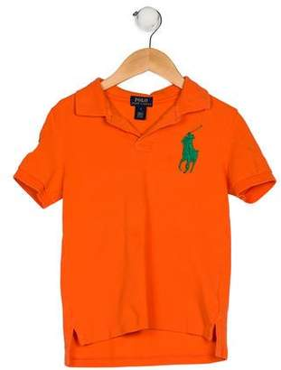Ralph Lauren Boys' Short Sleeve Collar Shirt