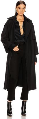 KHAITE Matthias Trench Jacket in Black | FWRD