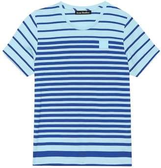 Acne Studios Kids Mini Elvin Face striped T-shirt