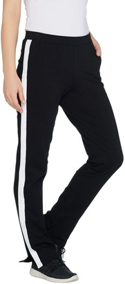 Denim & Co. Active Petite Knit Pants with Contrast Trim