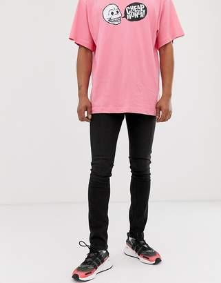 Tight Skinny Jeans In Black Haze
