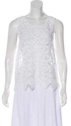 Frame Sleeveless Lace Top