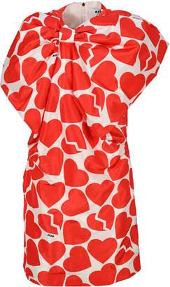 MSGM Hearts Print Bow Dress