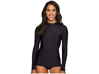 Speedo Zip Front Long Sleeve Rashguard