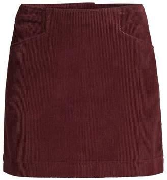 9f40499cf AG Jeans Bernadette Wide-Wale Cord Mini Skirt