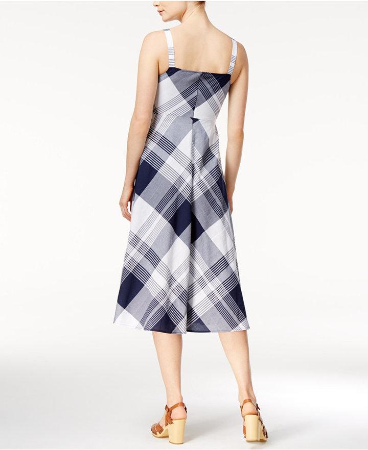 Maison Jules Plaid Midi Dress, Only at Macy's 3