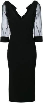 DSQUARED2 sheer midi dress