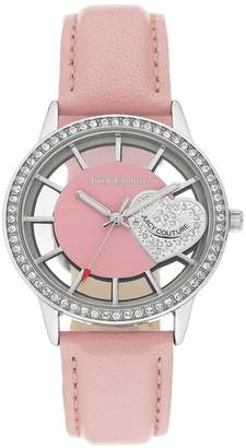 Juicy Couture Women's Light Pink Leather Strap Watch, 36mm