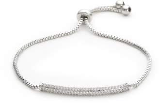 Kenneth Jay Lane CZ by Cubic zirconia bar charm bracelet