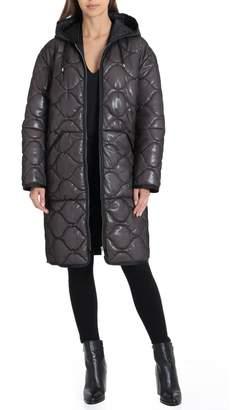 AVEC LES FILLES Quilted Puffer Coat