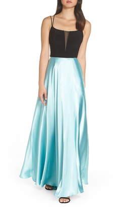 Blondie Nites Satin Evening Gown