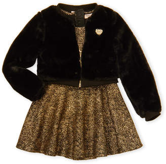 Juicy Couture Girls 4-6x) 2-Piece Faux Fur Jacket and Dress