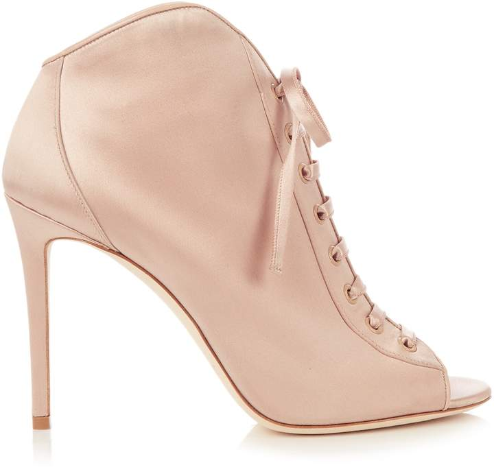 Jimmy Choo JIMMY CHOO Freya 100mm open-toe satin ankle boots