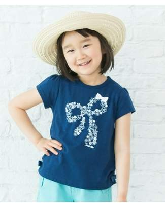 3can4on (サンカンシオン) - サンカンシオン サイド裾ギャザーリボンTシャツ
