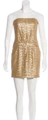 Laundry by Shelli Segal Sequined Strapless Dress w/ Tags