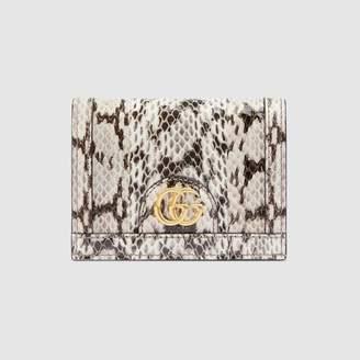 Gucci (グッチ) - 〔オフィディア〕スネークレザー カードケース