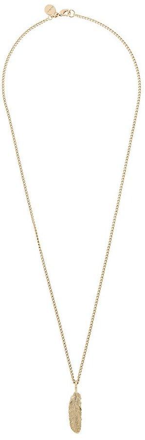 DieselDiesel feather pendant necklace