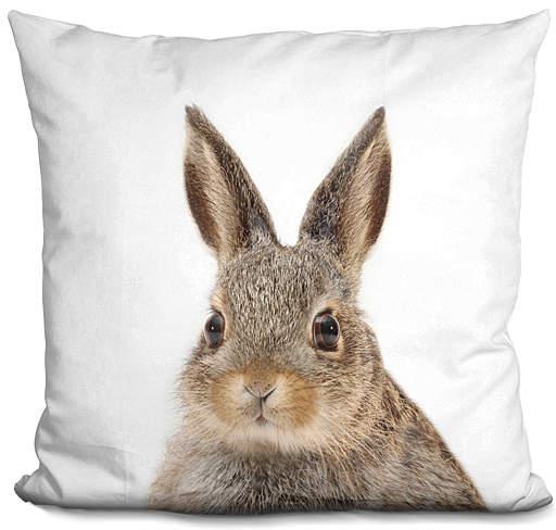 Little Pitti Rabbit Throw Pillow