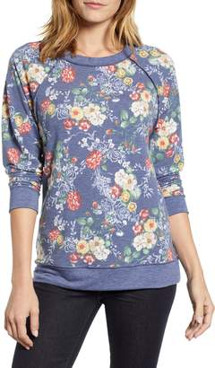 Caslon Floral Print Sweatshirt