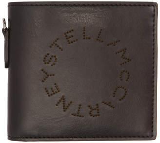 Stella McCartney Black Perforated Logo Bifold Wallet