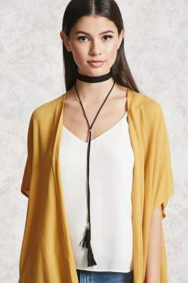 Forever 21 Faux Suede Layered Choker Set