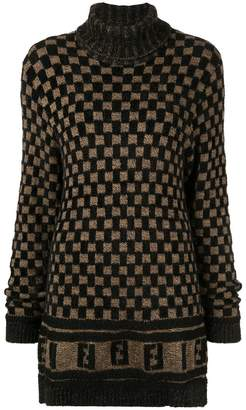 Fendi Pre-Owned checked jumper