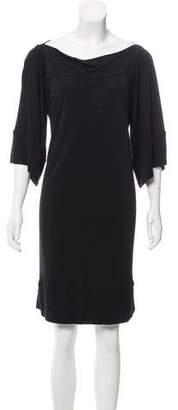 Diane von Furstenberg Three-Quarter Length Sleeve Knee-Length Dress