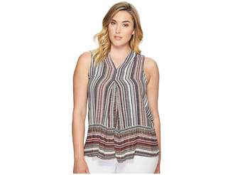 Bobeau B Collection by Plus Size Perry Pleat Front Blouse Women's Blouse