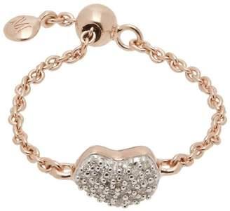 Monica Vinader Rose Gold Vermeil Nura Diamond Heart Friendship Ring
