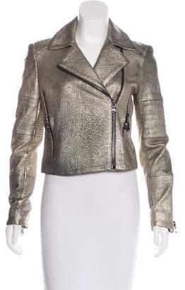 J Brand Leather Metallic Jacket w/ Tags