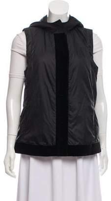 Armani Collezioni Hooded Button-Up Vest