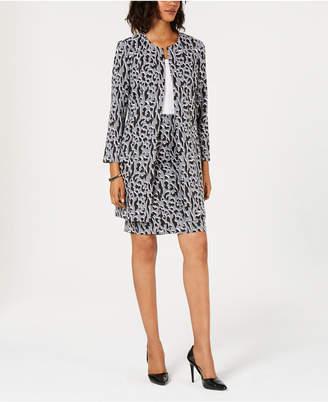 Alfani Petite Jacquard A-Line Jacket