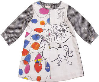 Papergirl Collection Calder Circus Cotton Dress - Black, Size 5-6y