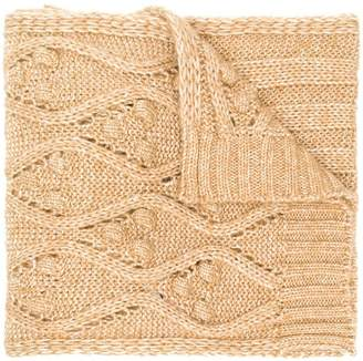 Twin-Set cable knit scarf