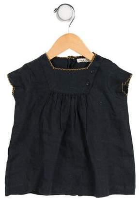 Caramel Baby & Child Girls' Linen Short Sleeve Top