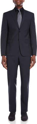 John Varvatos Two-Piece Blue & Grey Micro Check Suit