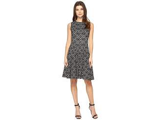 Calvin Klein Laser Cut Flare Dress Women's Dress
