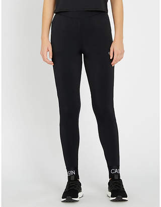 Calvin Klein knitted stretch-jersey leggings